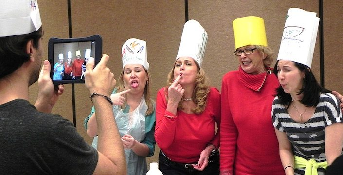 Team Cooking Challenge Funny Faces