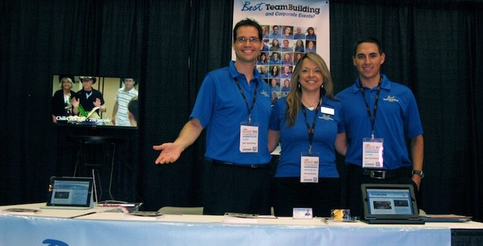 Best Corporate Events team at their table at BizBash Ideafest