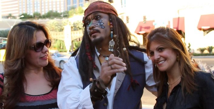 SmartHunts team with Captain Jack Sparrow look-a-like