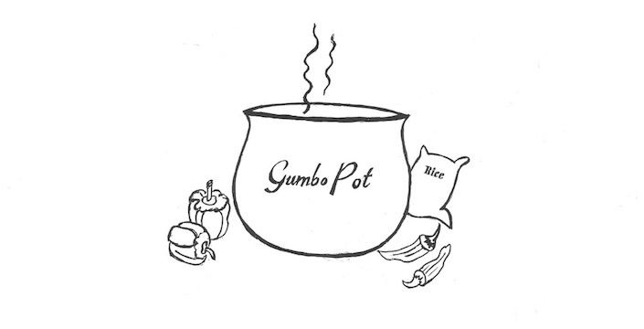 Drawing of a Gumbo Pot