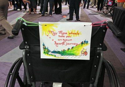 Build-a-Wheelchair personalized note