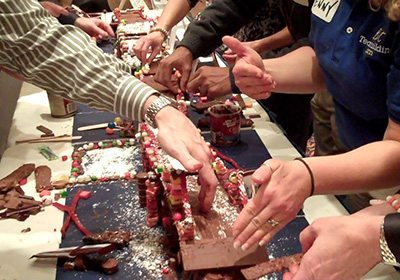 Chocolate Architect picture of hands building