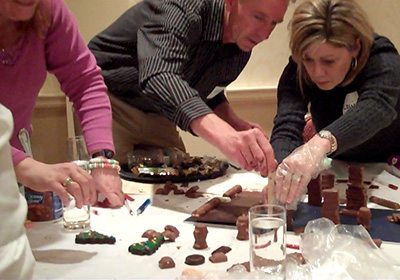 Picture of a Chocolate Architect building their chocolate structures