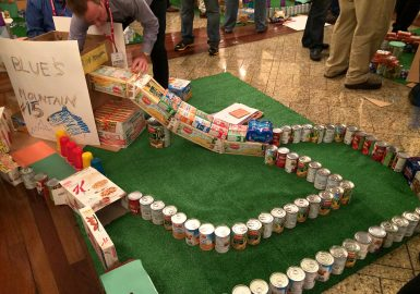 Mini Golf Course Build Food Donation Group Charity Events