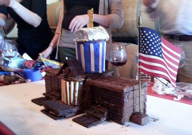 The White House built out of chocolate