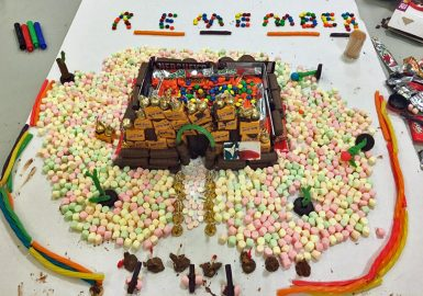 Chocolate and candy structure