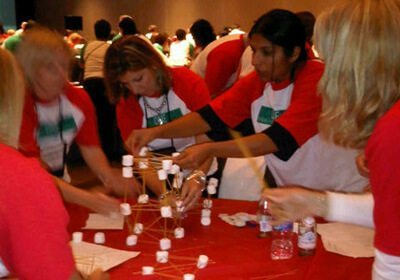 Picture of team working on Speed Networking pipeline activity