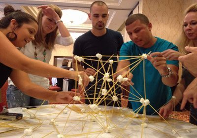 Picture of a teams Speed Networking tower