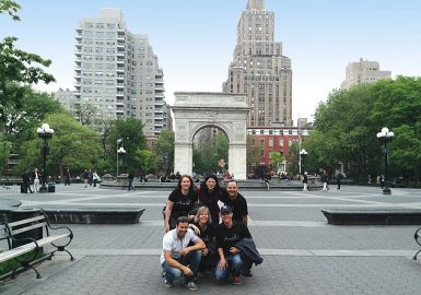 Amazing Chase team posing in front of the Washington Square Arch in NYC
