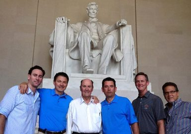 City SmartHunt team in Washington DC in front of the Lincoln Memorial