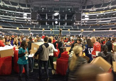 Huge Donation Nation™ at Dallas Cowboy Stadium