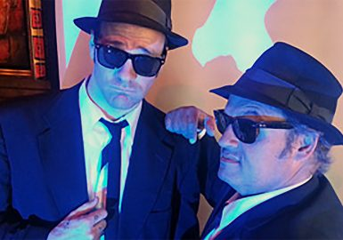 Picture of Jake and Elwood lookalikes at our House of Blues® Celebrity SmartHunt®