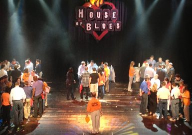 Team discussion at House of Blues®