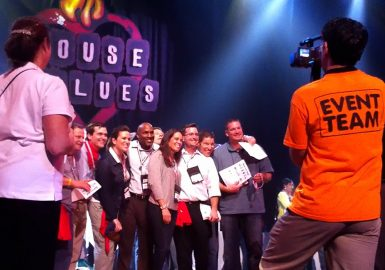 The winning team of the House of Blues® Celebrity SmartHunt®
