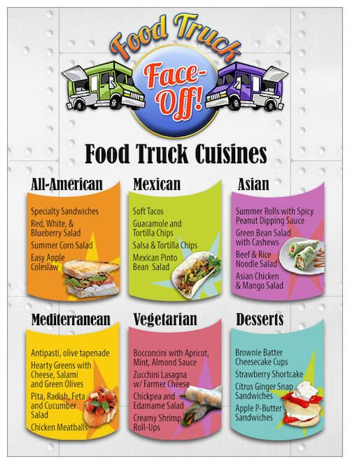 Food Truck Face-Off Menu