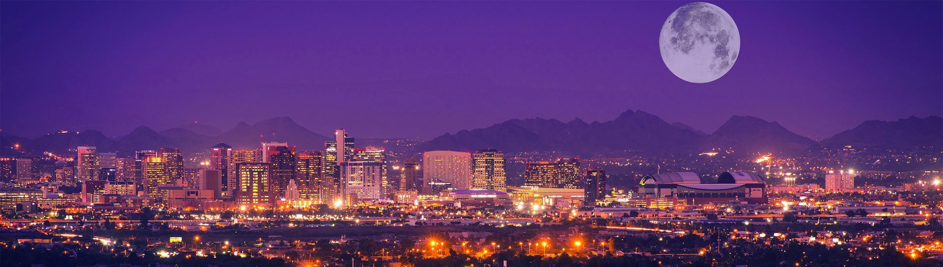 Phoenix skyline panoramic