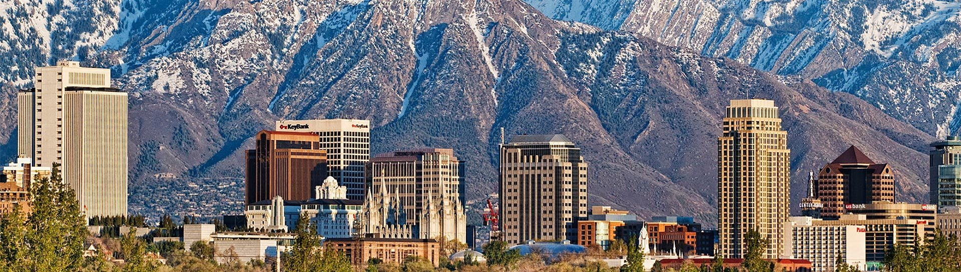 Salt Lake City skyline panoramic