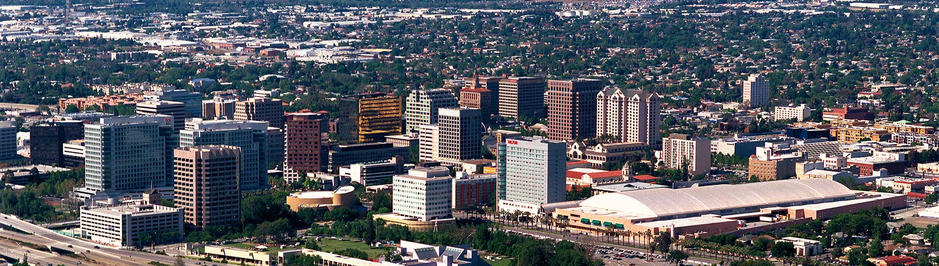San Jose Skyline panoramic