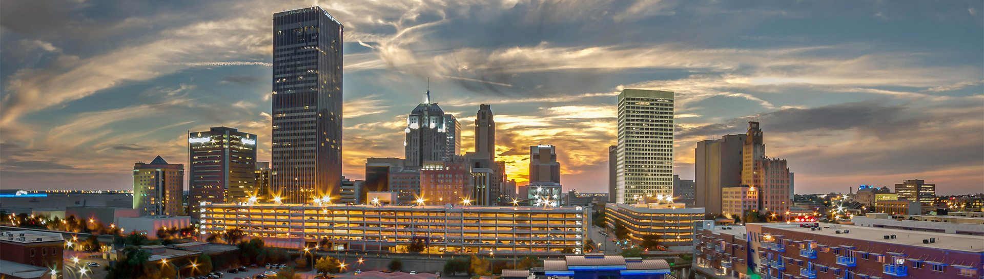 Oklahoma City skyline panoramic