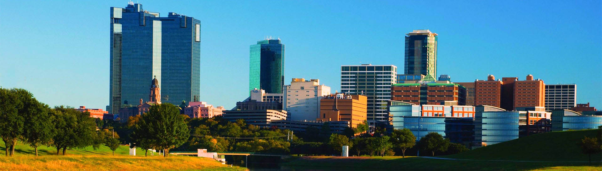 Fort Worth, TX skyline panoramic