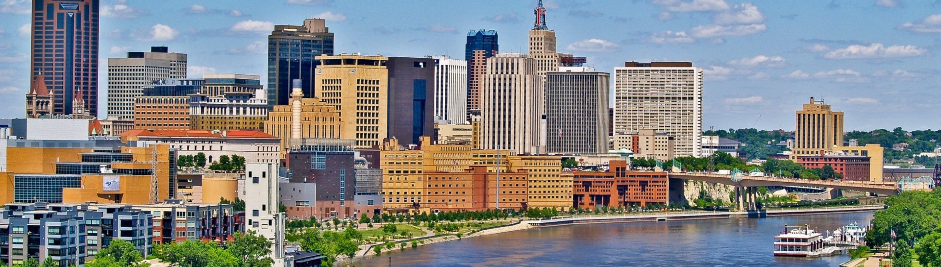 St. Paul Skyline panoramic