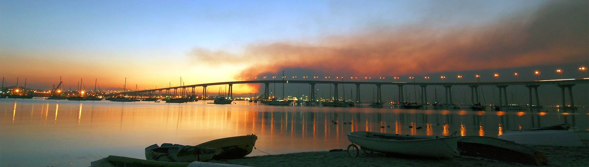 Coronado Bay Bridge panoramic