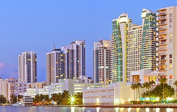 Hollywood Florida skyline