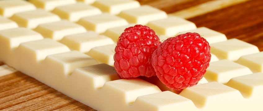 White Chocolate and Raspberries