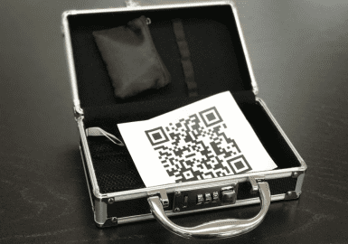 QR Code in briefcase